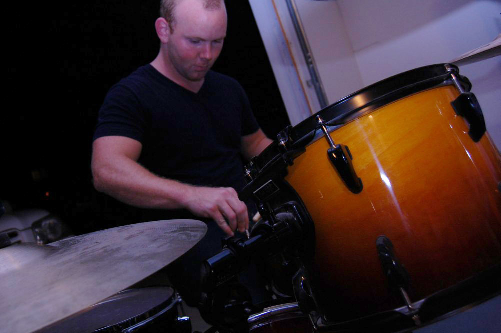 drummer chris getting ready